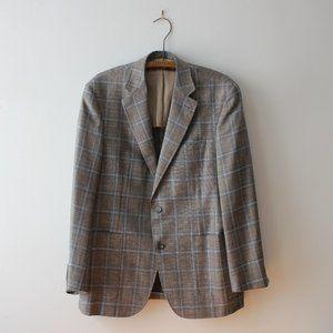 Canali Harry Rosen Plaid Suit Blazer